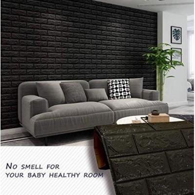 NW06 Siyah Tuğla Desen Kendinden Yapışkanlı Tuğla Esnek Duvar Paneli Fiyatları