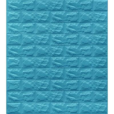 NW07 Mavi Tuğla Desen Kendinden Yapışkanlı Tuğla Esnek Duvar Paneli Fiyatları