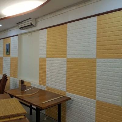 NW09 Sarı Tuğla Desen Kendinden Yapışkanlı Tuğla Esnek Duvar Paneli Fiyatları