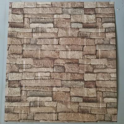 NW46 Çok Renkli Taş Kahve Köpüğü Kendinden Yapışkanlı Esnek Duvar Paneli Fiyatları 70x77 cm