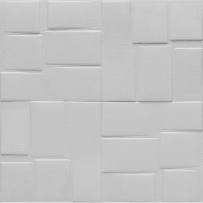 NW48 5D Ofis Banyo WC Tavan Duvar Kaplama Kendinden Yapışkanlı Esnek Deri Sünger Beyaz Duvar Paneli Fiyatları 70x70 cm