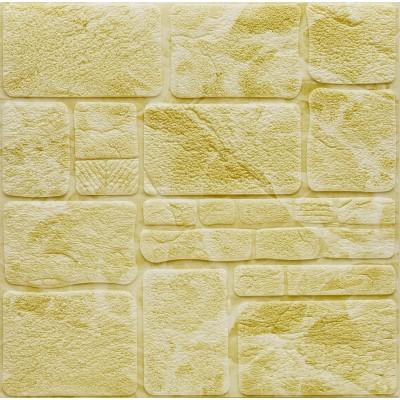 NW49 Dikdörtgen Taş Kendinden Yapışkanlı Esnek Sarı Duvar Paneli Fiyatları