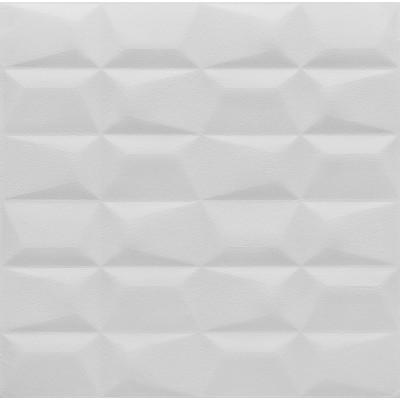 NW53 Geometrik Beyaz Deri Kendinden Yapışkanlı Sünger Esnek Beyaz Duvar Paneli Fiyatları 70x70 cm