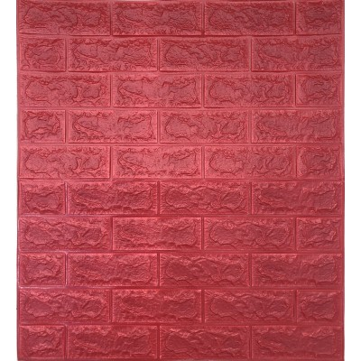 NW56 Kırmızı Tuğla Desen Kendinden Yapışkanlı Tuğla Esnek Duvar Paneli Fiyatları 70x77 cm
