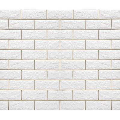 NW57 Beyaz Gold Silver Kendinden Yapışkanlı Tuğla Esnek Duvar Paneli Fiyatları