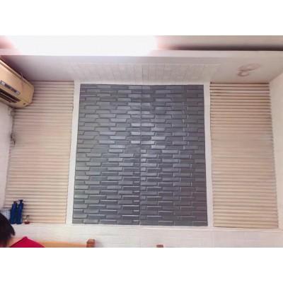 NW66 3D Siyah Tuğla Desen Kendinden Yapışkanlı  Esnek Sünger Dekoratif Duvar Paneli