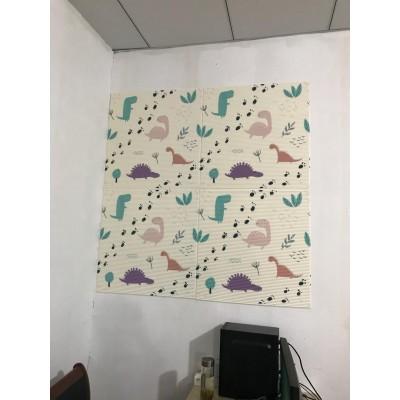 NW67 3D Dinazor Anaokulu Çocuk Bebek Odası Desen Kendinden Yapışkanlı  Esnek Sünger Dekoratif Duvar Paneli