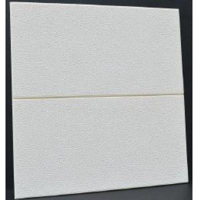 NW73 3D Beyaz Pütürlü Deri Desen Kendinden Yapışkanlı  Esnek Sünger Dekoratif Duvar Paneli