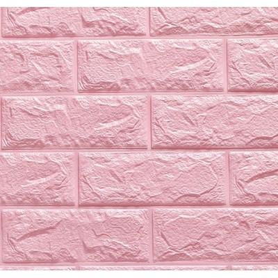 Pembe Tuğla Desenli Kendinden Yapışkanlı Esnek Sünger Tezgah Arası Duvar Paneli Fiyatı