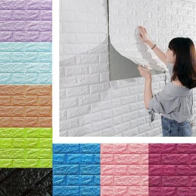 Beyaz Tuğla Desenli 8,5 mm Kendinden Yapışkanlı Yastık Duvar Paneli