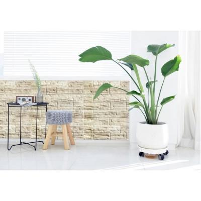 76x66x2 cm Bej Mocha Taş Desenli Kendinden Yapışkanlı Esnek Sünger Duvar Kaplama Paneli Fiyatları