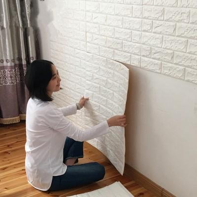 Beyaz Tuğla Desenli Kendinden Yapışkanlı Esnek Sünger Yastık Duvar Kaplama Paneli Fiyatları