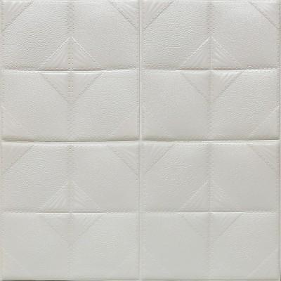 Kendinden Yapışkanlı Beyaz FRW12 Esnek Tuğla Duvar Paneli Silinebilir 60x60 cm