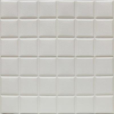 Kendinden Yapışkanlı Beyaz Esnek Tuğla Duvar Paneli Silinebilir 60x60 cm