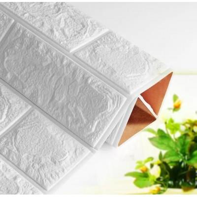 Kendinden Yapışkanlı Beyaz Esnek Tuğla Duvar Paneli Silinebilir 70x77 cm