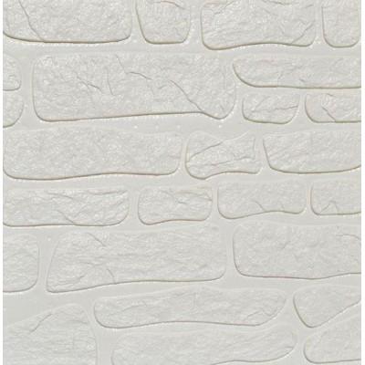 Kayrak Beyaz Taş Kendinden Yapışkanlı 3D Folyo Duvar Paneli