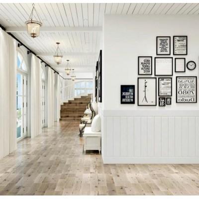 Kendinden Yapışkanlı Beyaz Ahşap Desen Esnek Sünger Duvar Paneli