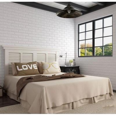 Kendinden Yapışkanlı Sünger Beyaz Tuğla 70x77 cm 6 Adet Duvar Paneli