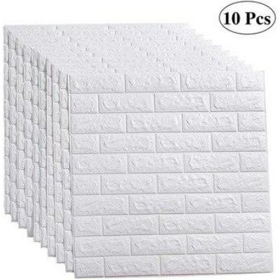 Nw01 Kendinden Yapışkanlı 70x77 Cm 10 Adet Sünger Tuğla Duvar Kağıdı Paneli