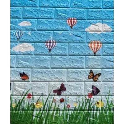 NW77 Kelebek Balon Çocuk Odası Arkası Yapışkanlı 3D Duvar Paneli