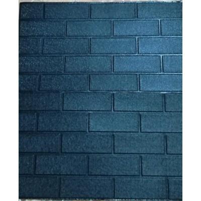 NW87 Esnek Düz Siyah 3D Duvar Kağıdı Yapışkanlı Duvar Paneli