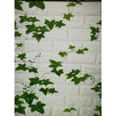 NW88 Kavak Yaprağı Tuğla Yapışkanlı 8,5 mm Duvar Kağıdı 3D Panel