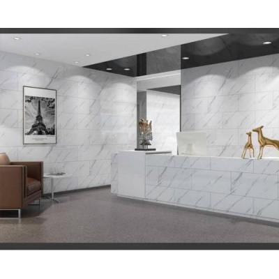 Yapışkanlı Beyaz Mermer Desen 1 Adet 30x60 cm Zemin Duvar Döşeme Paneli